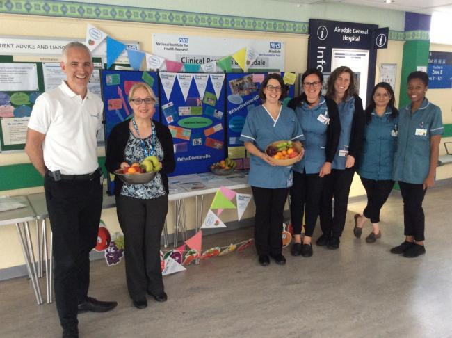 Some of Airedale Hospital's dieticians at the information stand