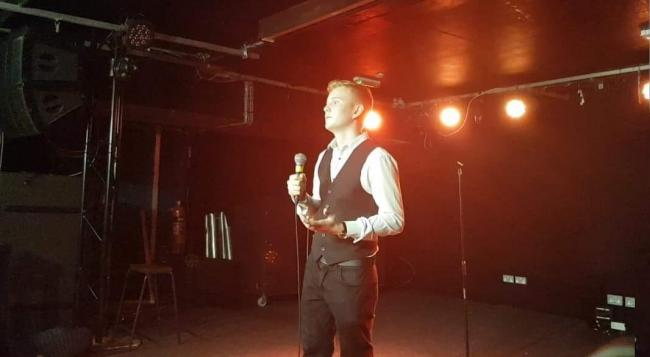Sam Cooke at the charity comedy night