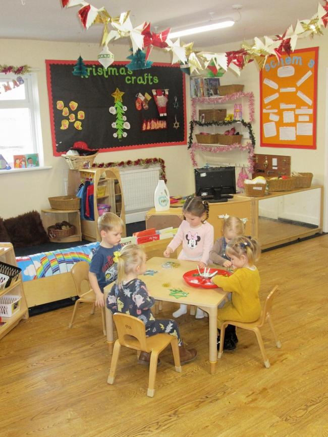 Children at play at the Cavendish Lodge Day Nursery