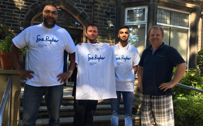 Sajjad Sadiq, Patrick McDonnell and Mohsin Sadiq with Manorlands fundraiser Andrew Wood