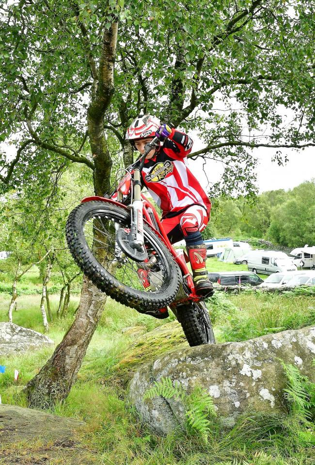 Harvey Taglione in action at the British Youth Trial Championships at Brimham Rocks. Picture: Barry Robinson
