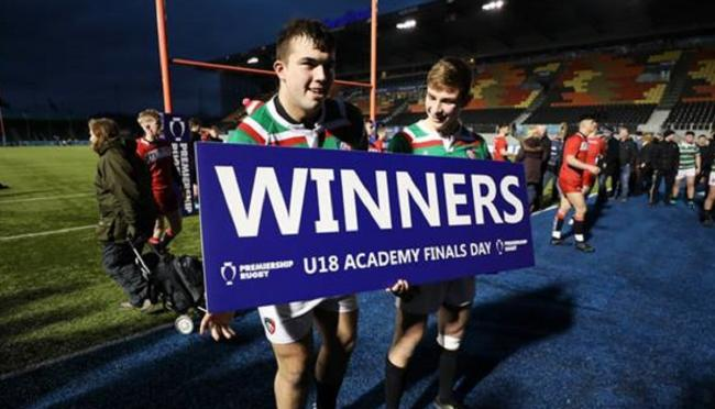 James Whitcombe, left, has earned a place in Leicester Tigers' development squad for this season