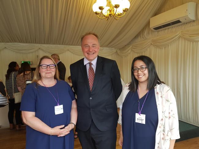 MP John Grogan with Keeley Lister, left, and May Whitaker