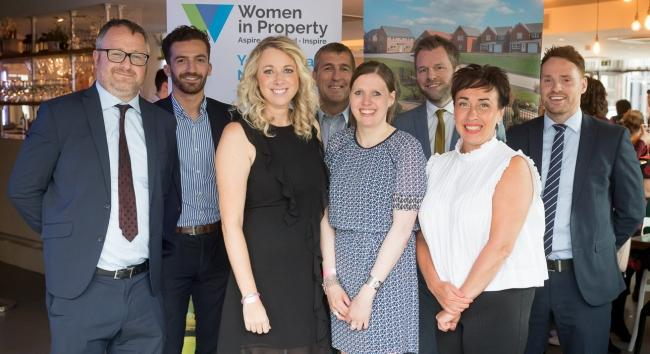 Ian Ruthven and Jennifer Winyard, fourth and fifth from left, with colleagues at the Women in Property event