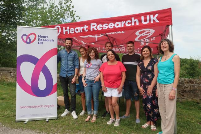 Some of the Damart staff who took part in the sponsored walk, with Isabel McKenzie, third from left, of Heart Research UK