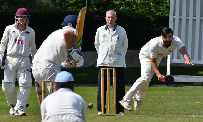 Saltaire's Sajad Ali gained all 10 wickets in his side's win over Addingham. Picture: Richard Leach