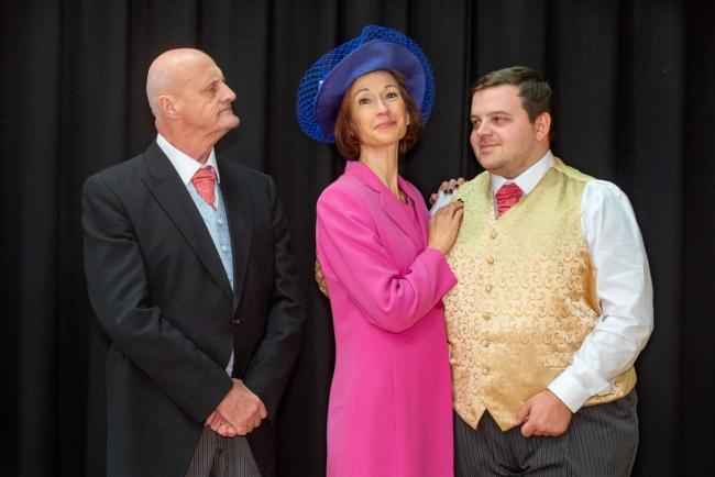 Donald (Allan Stockdill),  his wife Betty (Rachel Conyers) and their son Mark (Tom Clayton) in A Passionate Woman in Bingley