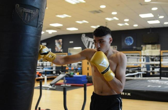 Ibrahim Nadim is busy in training as he gears up for his bid to become a professional boxer