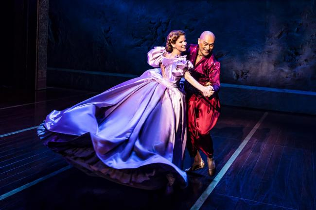 Kelli O'Hara and Ken Watanabe in musical The King and I. Picture by Matthew Murphy