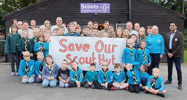 Fell Lane Scout group members get their message across.