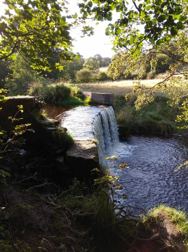 A waterfall in the Tinker area near the Holme Mills housing site. Picture by David Wilkinson