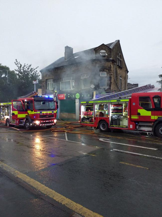 The scene of the fire (photo: West Yorkshire Fire & Rescue Service)