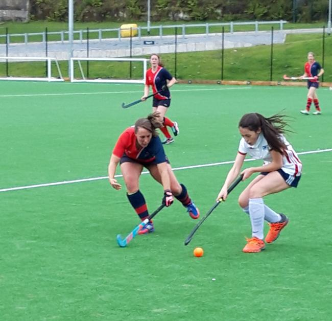 Heather Broadley, left, in action for Airedale against Doncaster