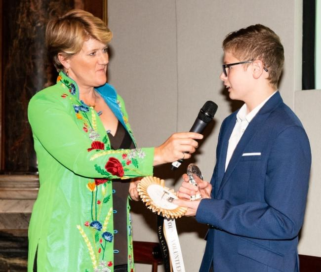 T-jay chats to Clare Balding at the awards ceremony