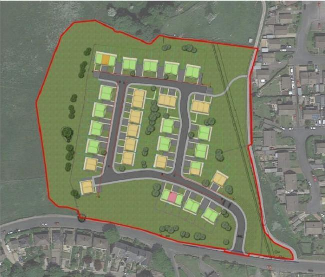 The planned housing scheme at Long Lee