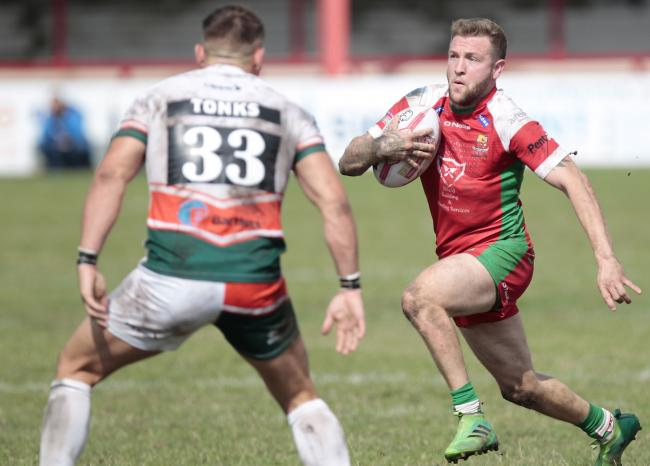 Cougars full-back Ritchie Hawkyard will be playing in 2020 after all, making it his fourth season at the club in total Picture: Charlie Perry