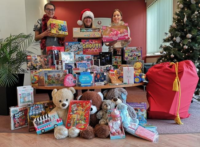 Some of the gifts collected at Acorn Stairlifts during last year's Mission Christmas appeal