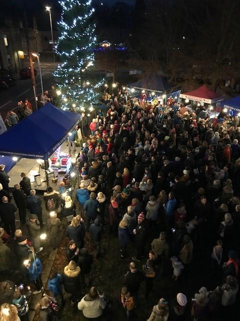The switching on of the Christmas lights in the Steeton-with-Eastburn parish
