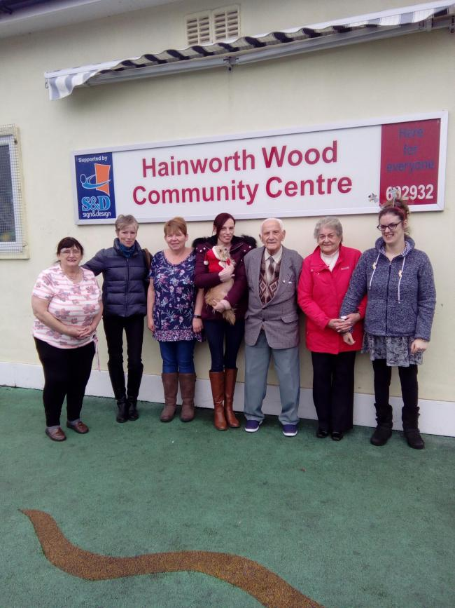 The volunteer team at the Hainworth Wood Community Centre who urgently need to find money for a new roof