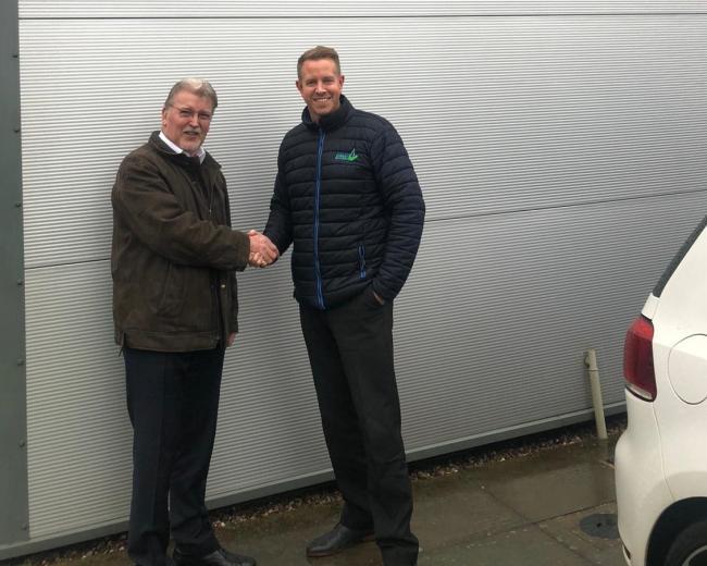 Hinckley managing director Denis Johnson, left, with Clever Energy Boilers director Paul Calvert