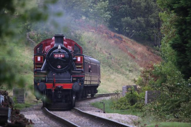 Steam trains are running through the Christmas season