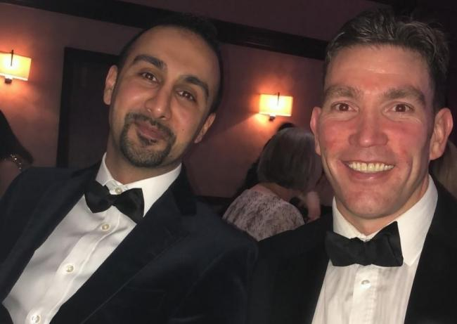 Raj Gill with fellow Keighley Specsavers director Dominic Doran