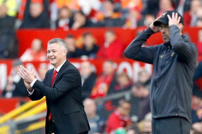 Manchester United boss Ole Gunnar Solskjaer, left, brushed off criticism from Liverpool counterpart Jurgen Klopp