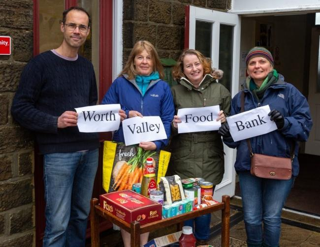 Promoting the new foodbank are, from left, the Rev Chris Upton, church volunteer Alison Cruickshank, Helen O'Connell and Sharn Fuisdale, from the church