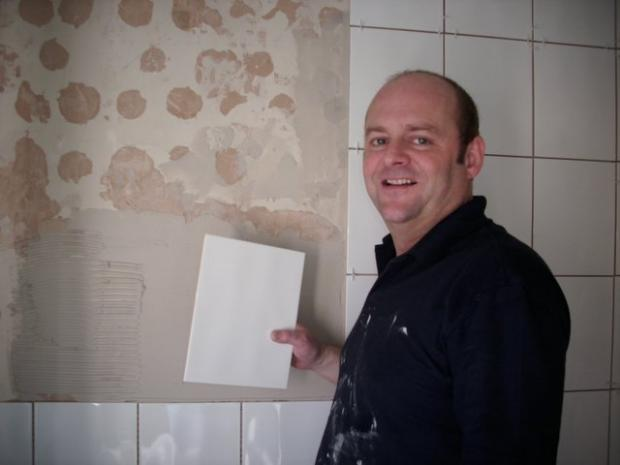 Stewart Simpson finds his new tiling career very therapeutic