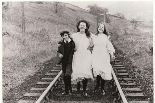 Film still from The Railway Children-pictured are L-R Gary Warren,Jenny Agutter and Sally Thomsett.