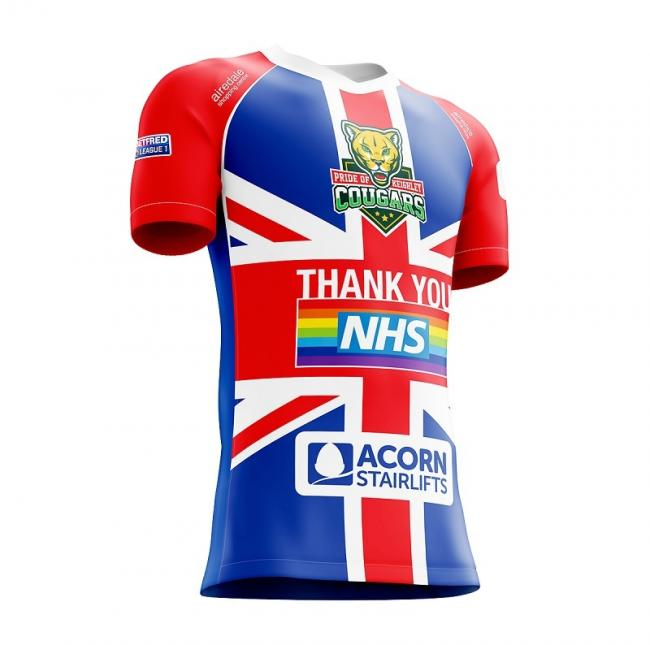 A mock-up design of the new Cougars charity jersey