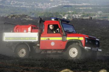 Fire at Keighley quarry site