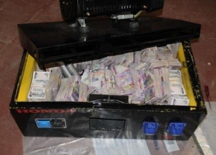 Cash seized during the operation