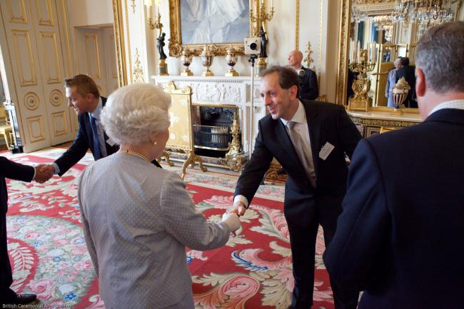 Mark Ridgway meets the Queen at the awards reception