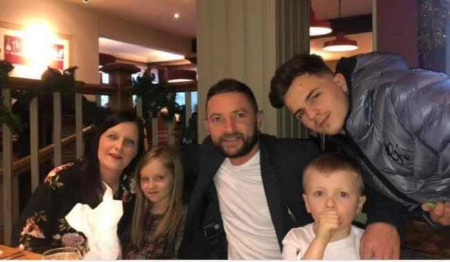 Gemma Wilkinson with her family