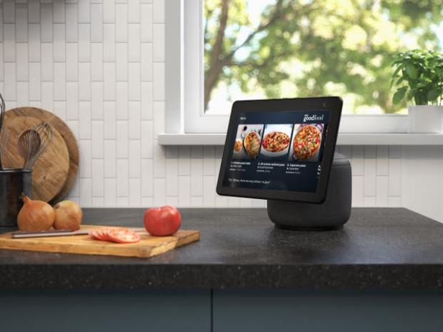 Keighley News: The new Echo Show screen can swivel to follow the user. Picture: Amazon