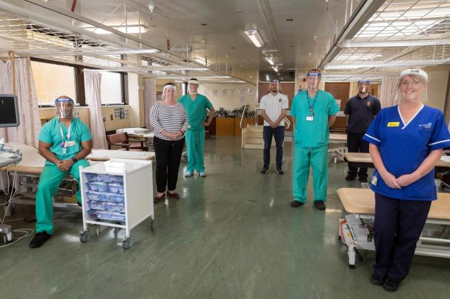 The team at the new Airedale Hospital clinic