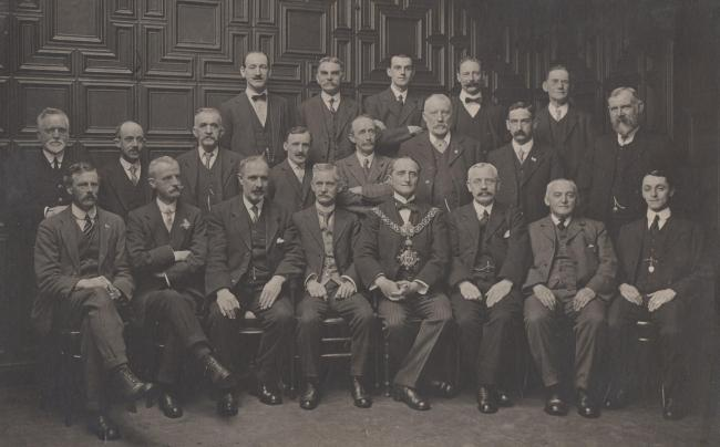 The old portrait of Keighley Borough Council