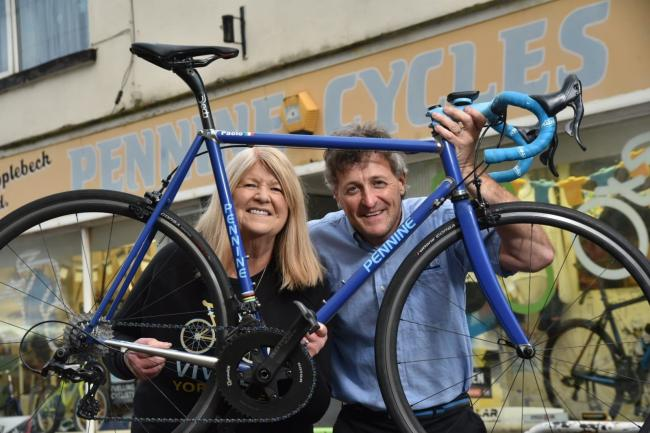 Sandra and Paul Corcoran, of Pennine Cycles, which has been nominated for a national award