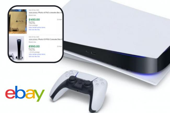 eBay send PS5 scam warning as 'consoles' sell for over £500 - pics. PA/ebay