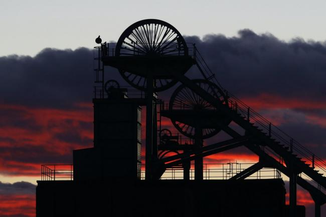 A colliery wheel (Owen Humphreys/PA)