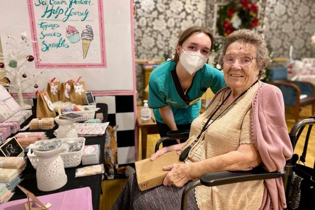 Care home holds indoor Christmas fair for its residents