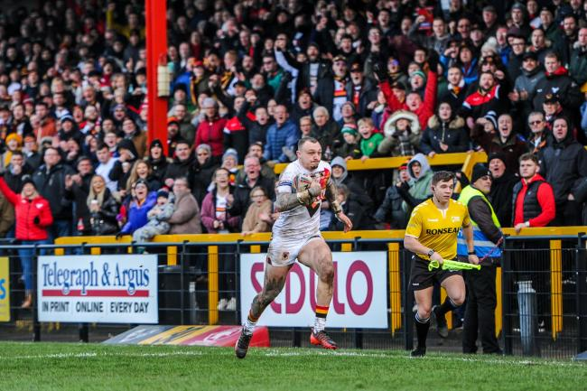Bulls have not had a home game in over 10 months, and they could be forced to play their opening few games of the 2021 Championship season on the artificial surfaces at Widnes or Newcastle. Picture: Tom Pearson.