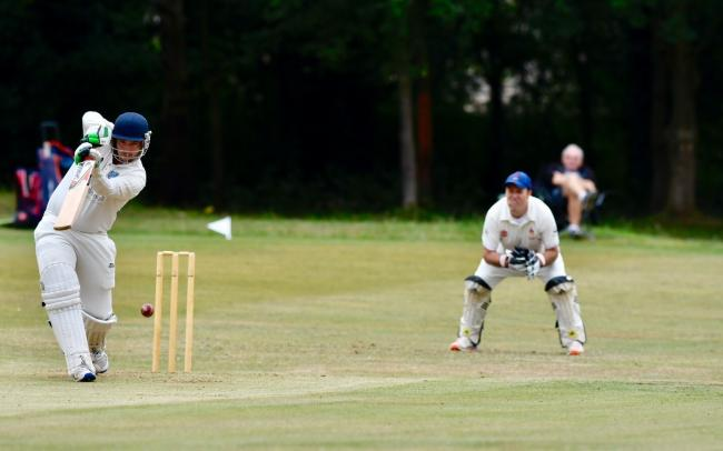 Harden batting against Skipton in the Aire-Wharfe League. Picture: Andy Garbutt.
