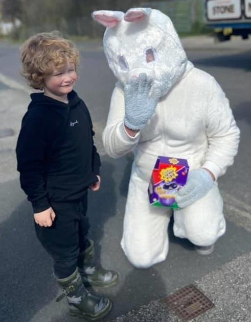 Keighley News: The Easter bunny on his rounds