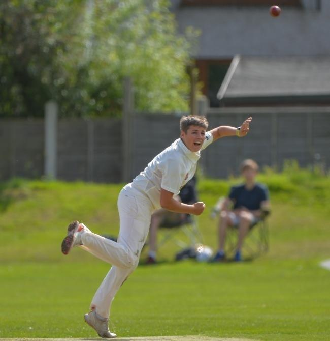 James Massheder took 4-40 for Keighley against Bankfoot, but his side's run chase fell well short. Picture: Ray Spencer.