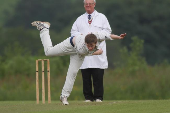 Oakworth bowler James Lee took 3-27 to help his side to victory over Hepworth & Idle. Picture: Bob Smith.