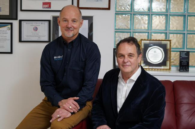 EthOss Regeneration Ltd managing director Dr Paul Harrison and clinical director Dr Peter Fairbairn