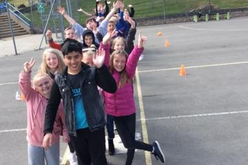 The number's up for Keighley-district school – and it's delighted!