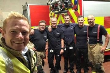 Keighley firefighters are joined by town's MP